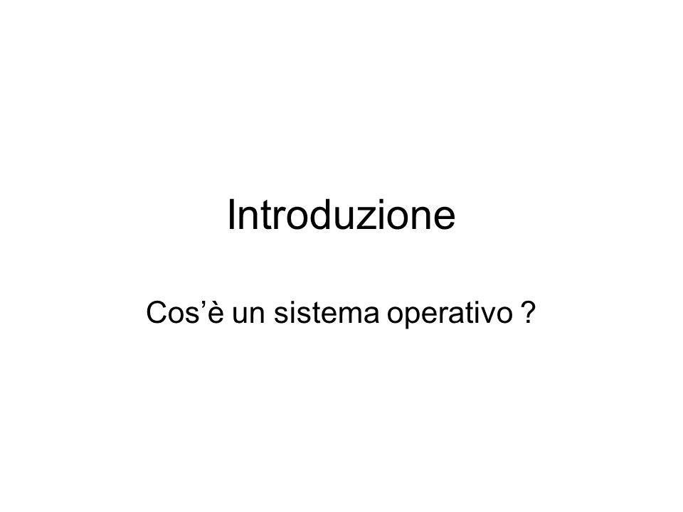 Introduzione Cos'è un sistema operativo