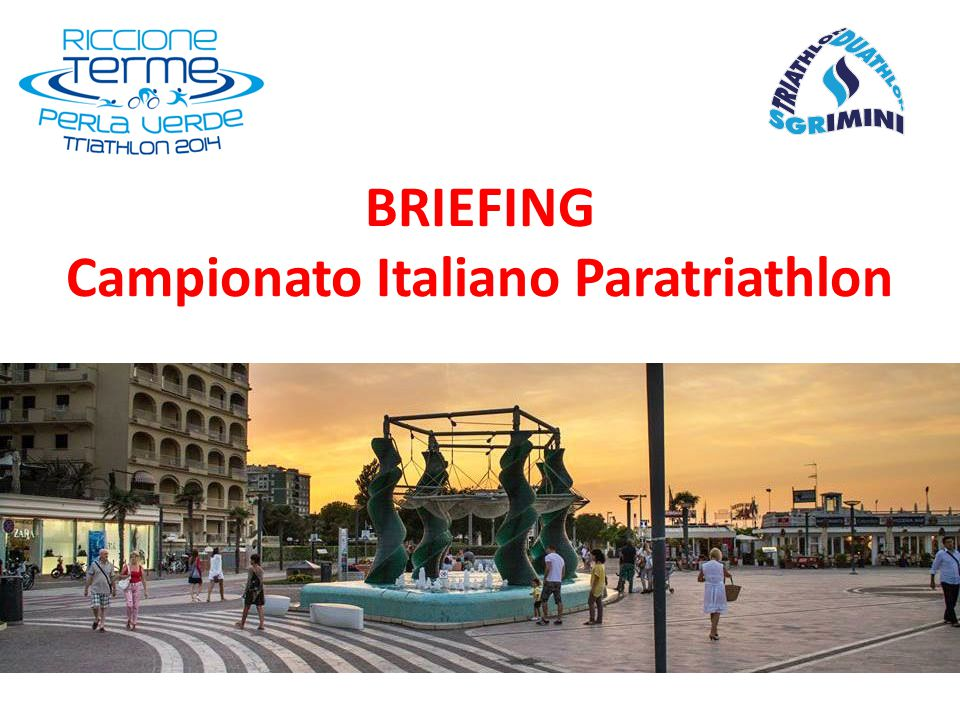 BRIEFING Campionato Italiano Paratriathlon