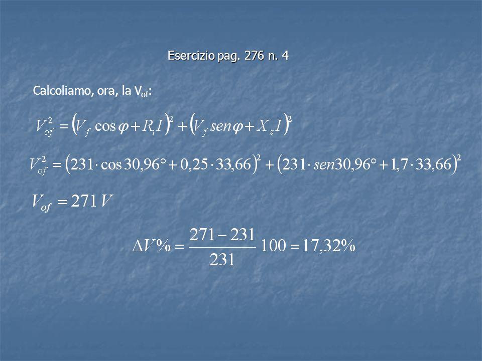 Esercizio pag. 276 n. 4 Calcoliamo, ora, la V of :