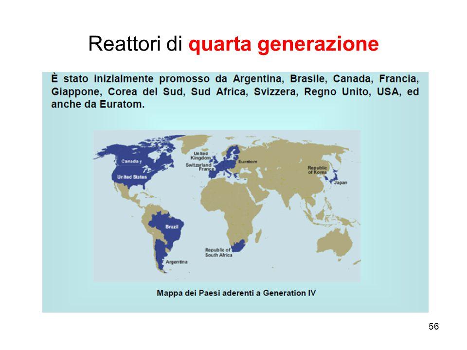56 Reattori di quarta generazione