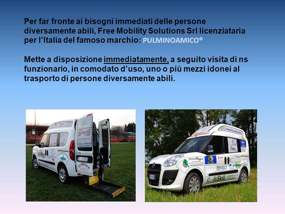 Per far fronte ai bisogni immediati delle persone diversamente abili, Free Mobility Solutions Srl licenziataria per l'Italia del famoso marchio: PULMI