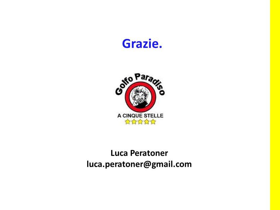 Grazie. Luca Peratoner luca.peratoner@gmail.com