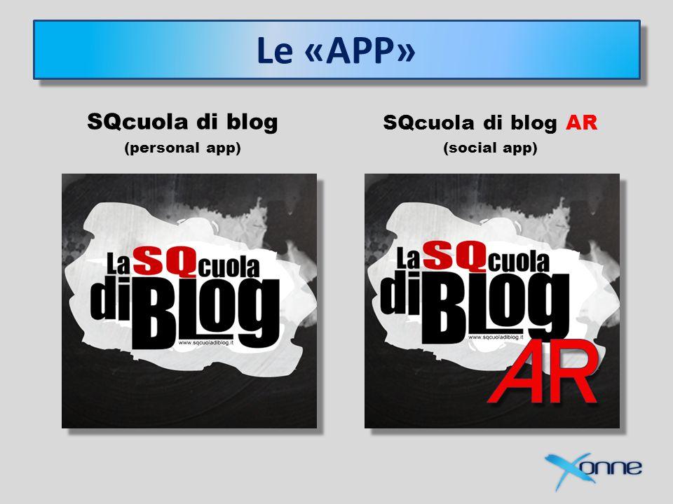 Le «APP» SQcuola di blog (personal app) SQcuola di blog AR (social app)