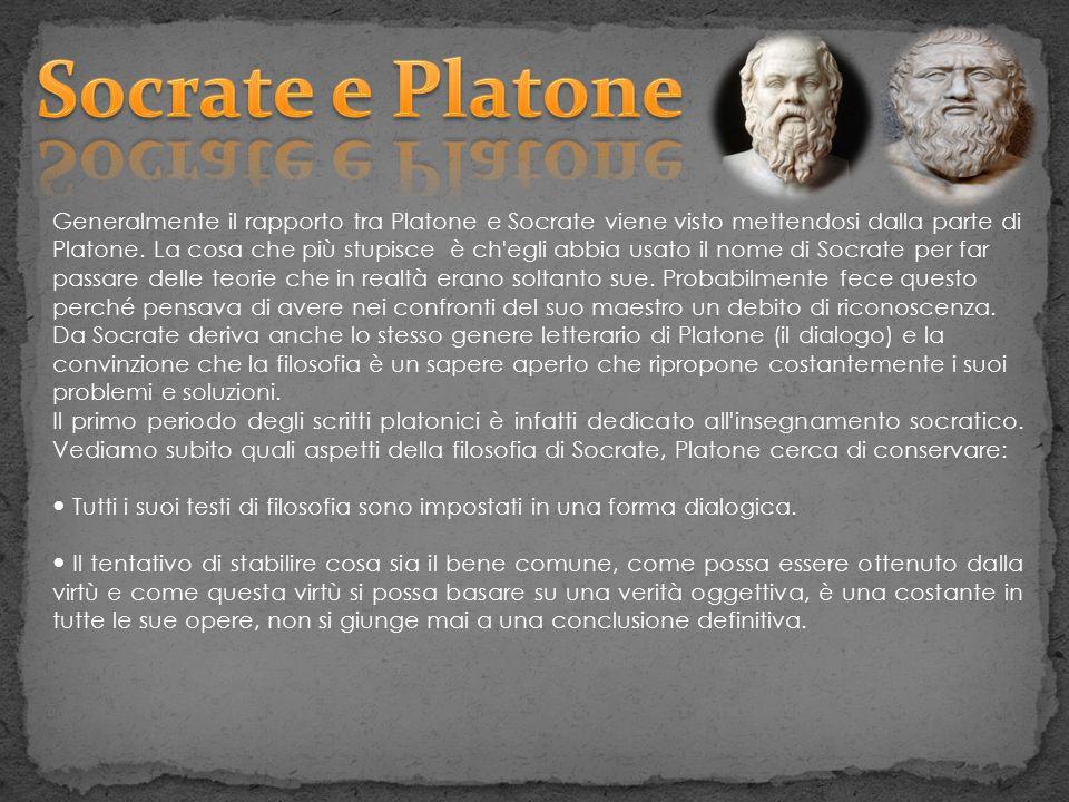 Generalmente il rapporto tra Platone e Socrate viene visto mettendosi dalla parte di Platone. La cosa che più stupisce è ch'egli abbia usato il nome d