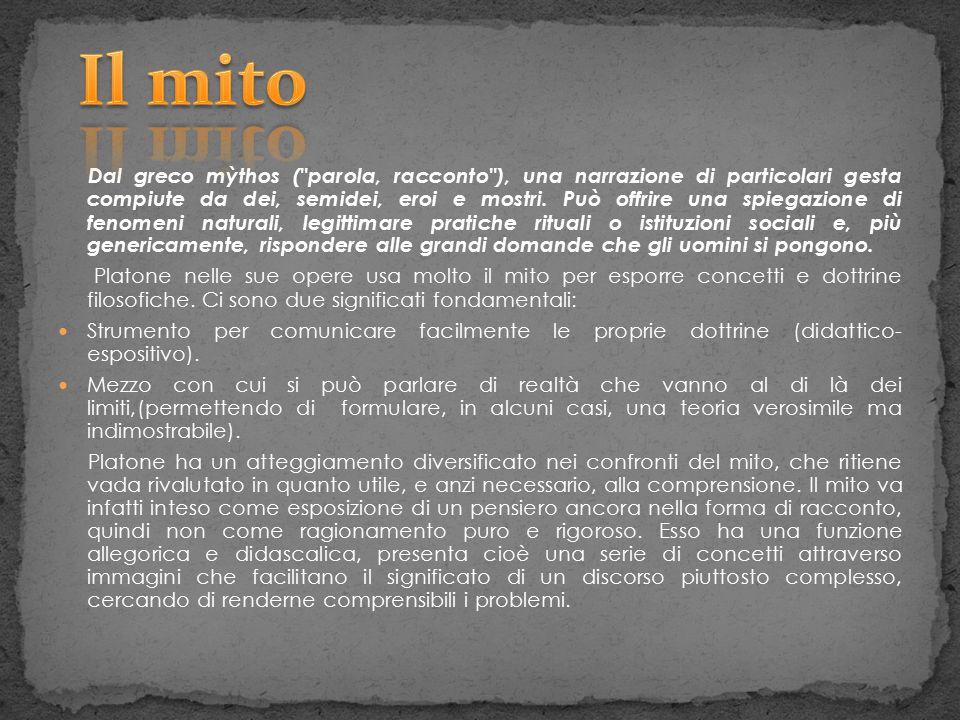 Dal greco mỳthos (