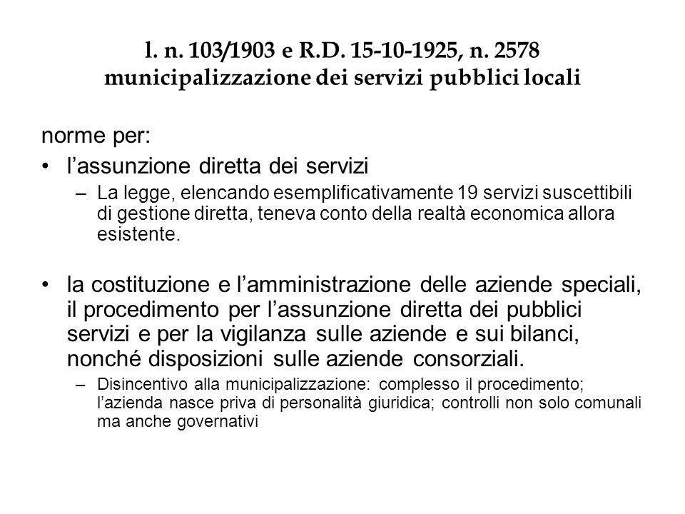 R.D.15-10-1925, n. 2578 1. (art. 1 della legge 29 marzo 1903, n.