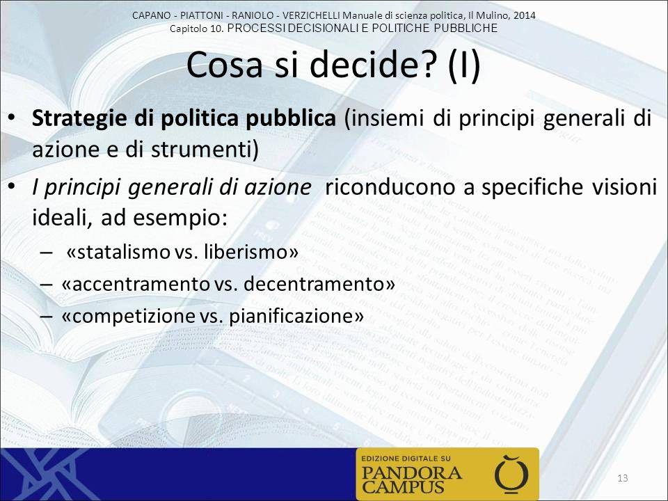 CAPANO - PIATTONI - RANIOLO - VERZICHELLI Manuale di scienza politica, Il Mulino, 2014 Capitolo 10.