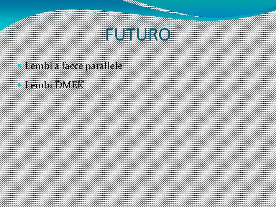 FUTURO Lembi a facce parallele Lembi DMEK