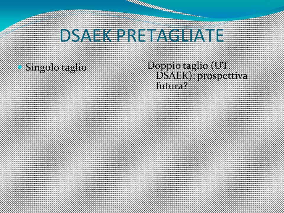 DSAEK PRETAGLIATE Singolo taglio Doppio taglio (UT. DSAEK): prospettiva futura