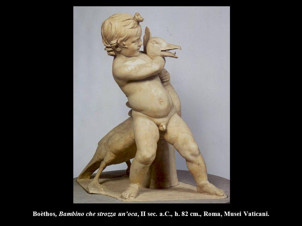 Boèthos, Bambino che strozza un'oca, II sec. a.C., h. 82 cm., Roma, Musei Vaticani.
