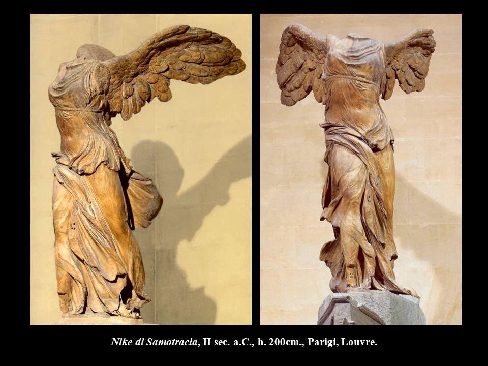 Nike di Samotracia, II sec. a.C., h. 200cm., Parigi, Louvre.