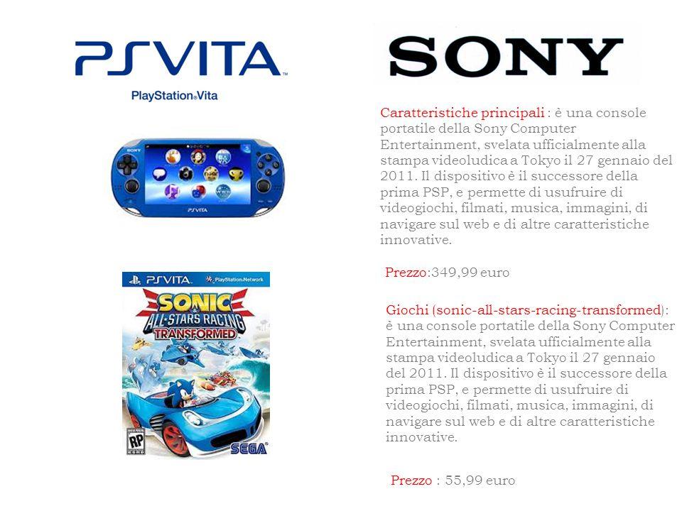 Caratteristiche principali : è una console portatile della Sony Computer Entertainment, svelata ufficialmente alla stampa videoludica a Tokyo il 27 gennaio del 2011.