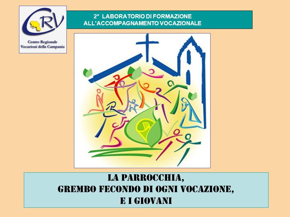2° LABORATORIO DI FORMAZIONE ALL ACCOMPAGNAMENTO VOCAZIONALE La parrocchia, grembo fecondo di ogni vocazione, e i giovani