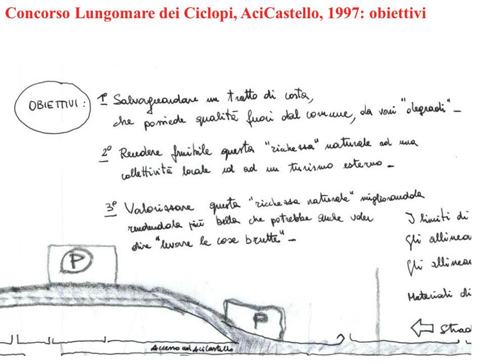Concorso Lungomare dei Ciclopi, AciCastello, 1997: obiettivi