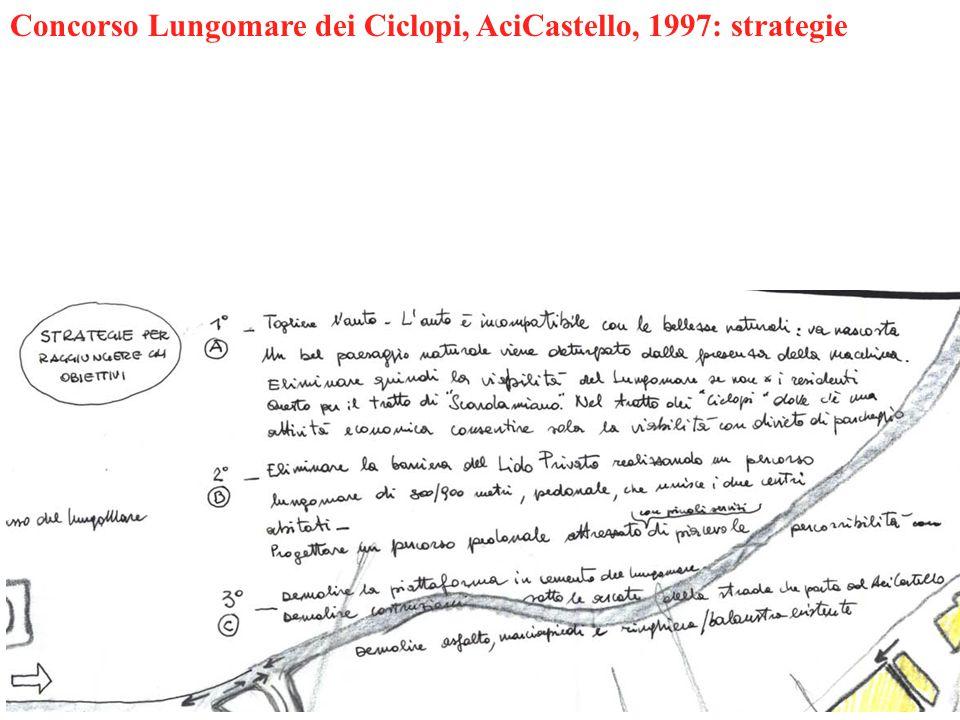 Concorso Lungomare dei Ciclopi, AciCastello, 1997: strategie