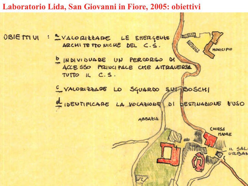 Laboratorio Lida, San Giovanni in Fiore, 2005: obiettivi