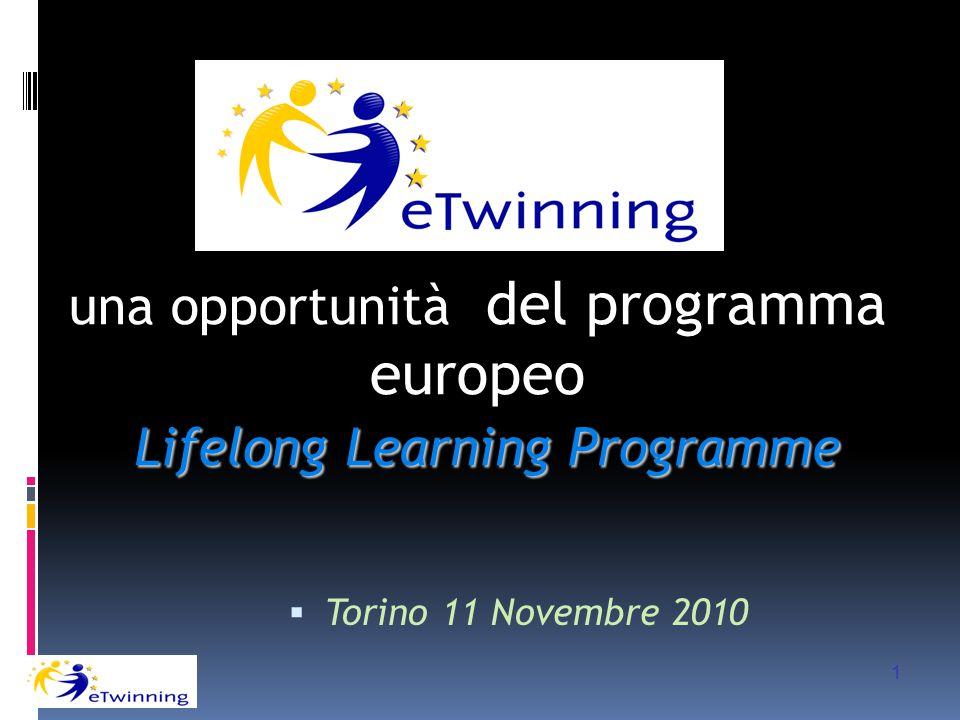  Torino 11 Novembre 2010 una opportunità del programma europeo Lifelong Learning Programme 1