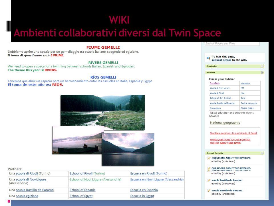 WIKI Ambienti collaborativi diversi dal Twin Space