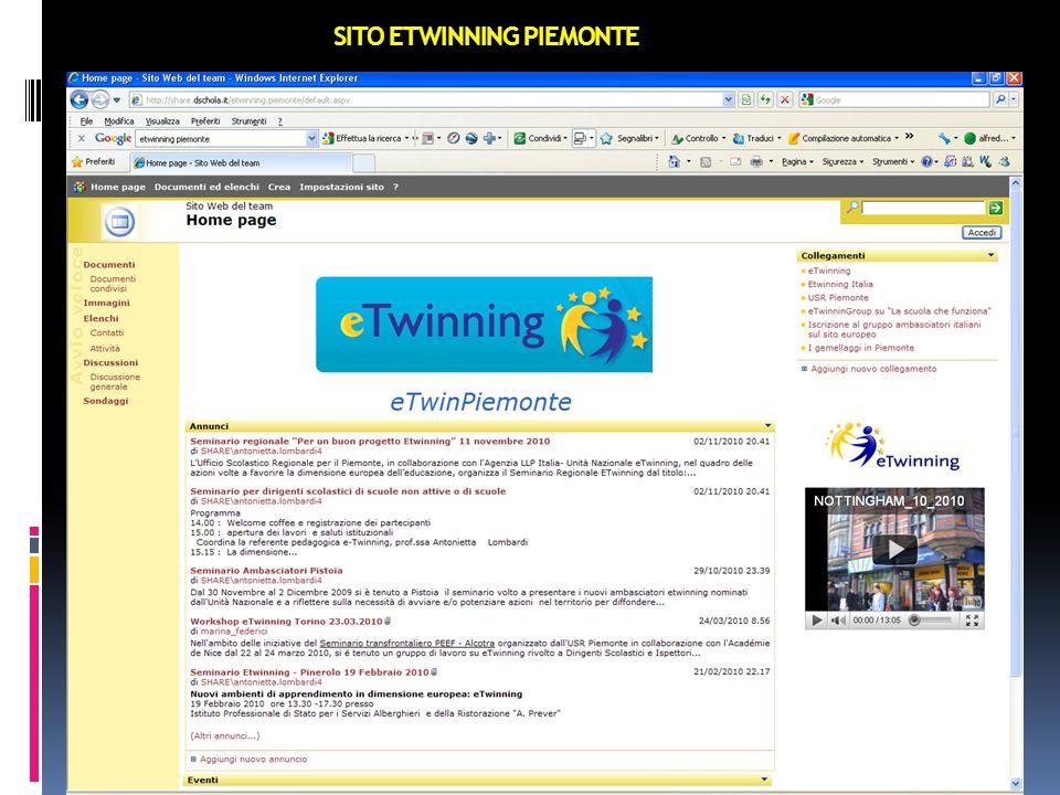 SITO ETWINNING PIEMONTE