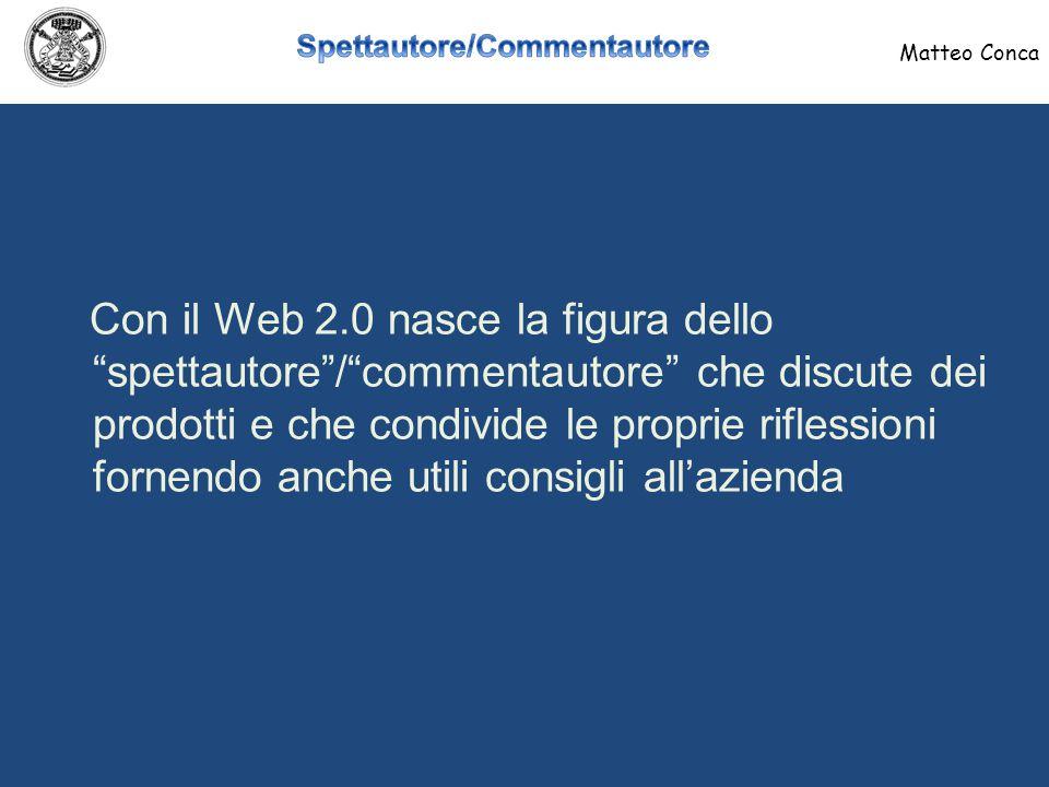 Nasce in pratica il consumatore 2.0 che utilizza: Matteo Conca