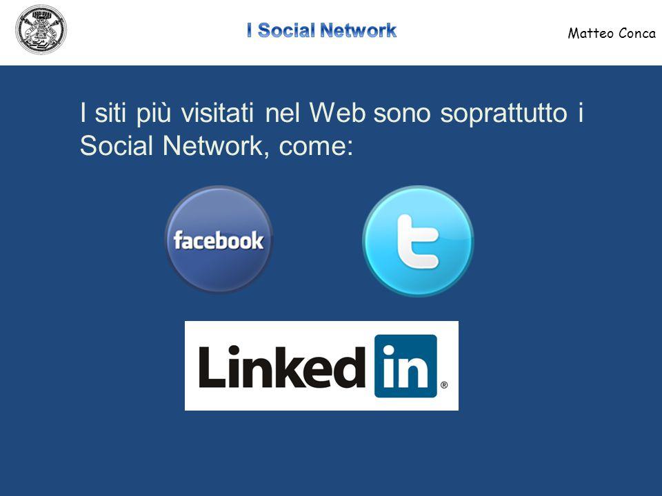 I siti dei social network consentono alle aziende di:  Essere presenti dove gli utenti sono presenti  Comunicare con gli utenti e relazionarsi con loro Matteo Conca