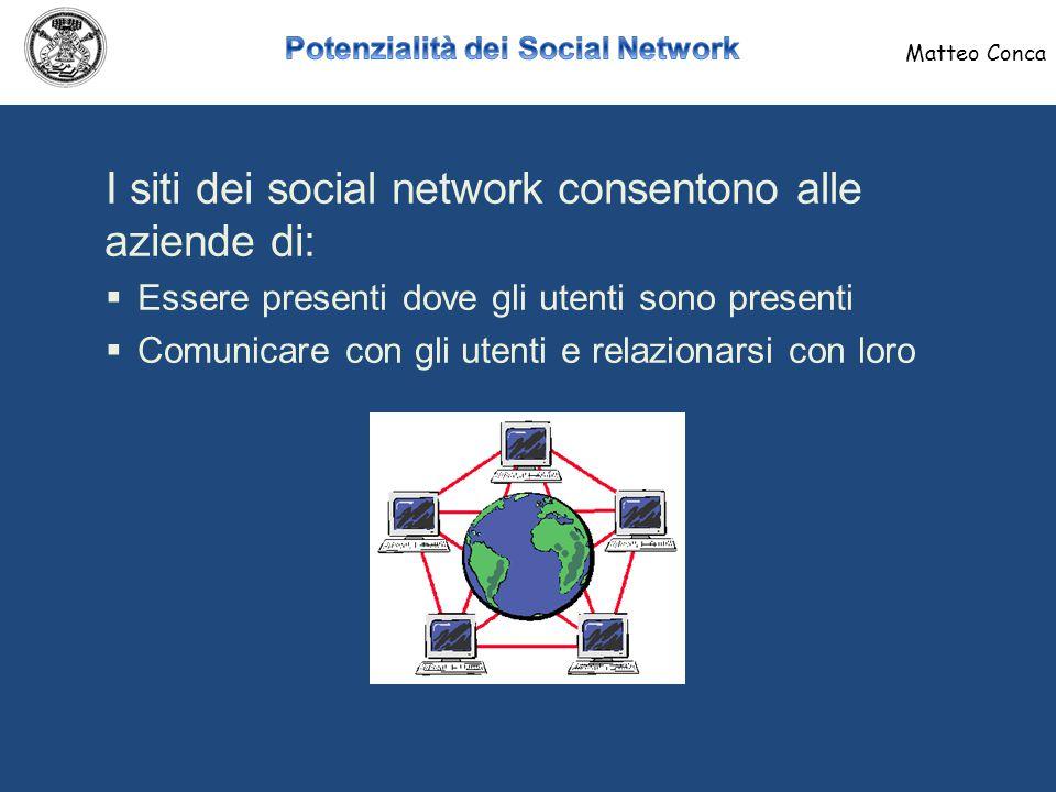 Alcuni casi di successo di pubblicità di aziende sui Social Network Matteo Conca