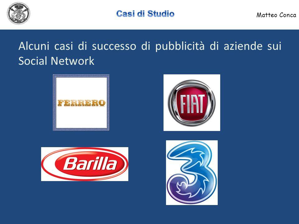 Matteo Conca Pagina Facebook dedicata a Barilla