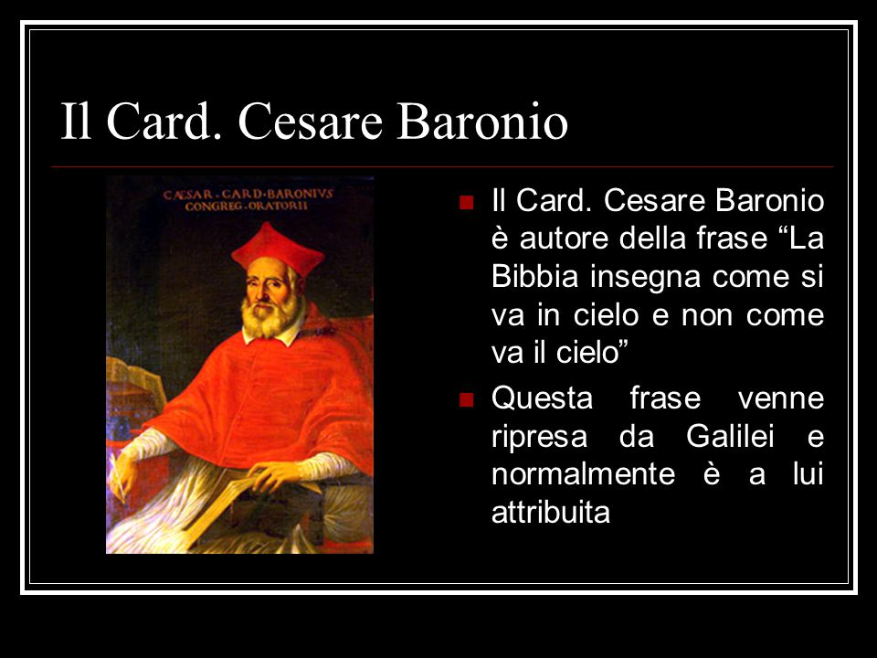 Il Card.Cesare Baronio Il Card.