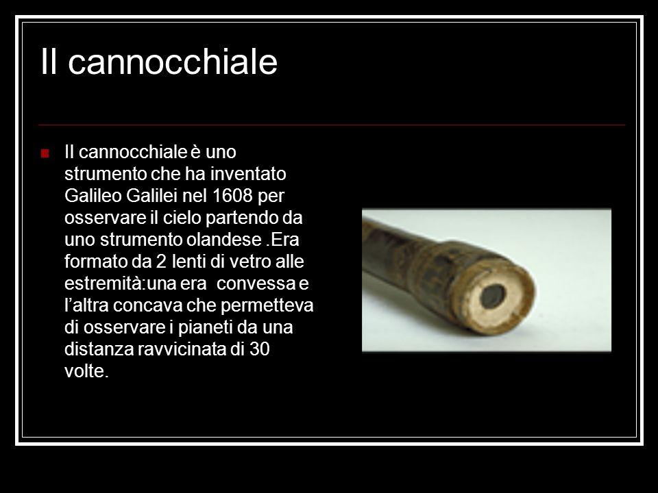 Il cannocchiale Il cannocchiale è uno strumento che ha inventato Galileo Galilei nel 1608 per osservare il cielo partendo da uno strumento olandese.Er