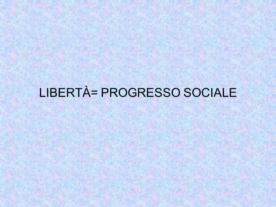 LIBERTÀ= PROGRESSO SOCIALE