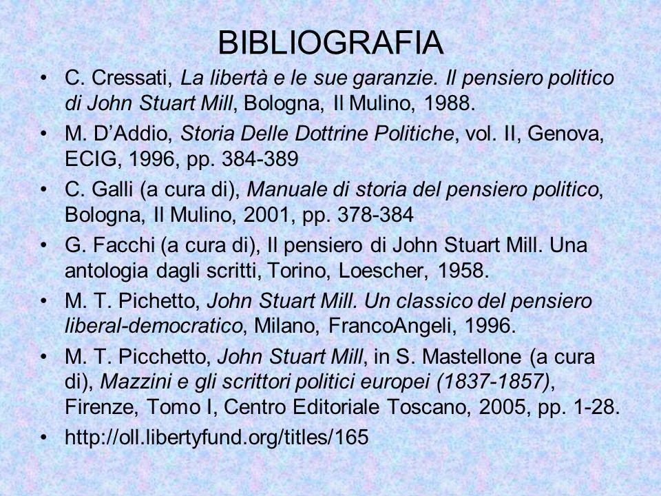 BIBLIOGRAFIA C.Cressati, La libertà e le sue garanzie.