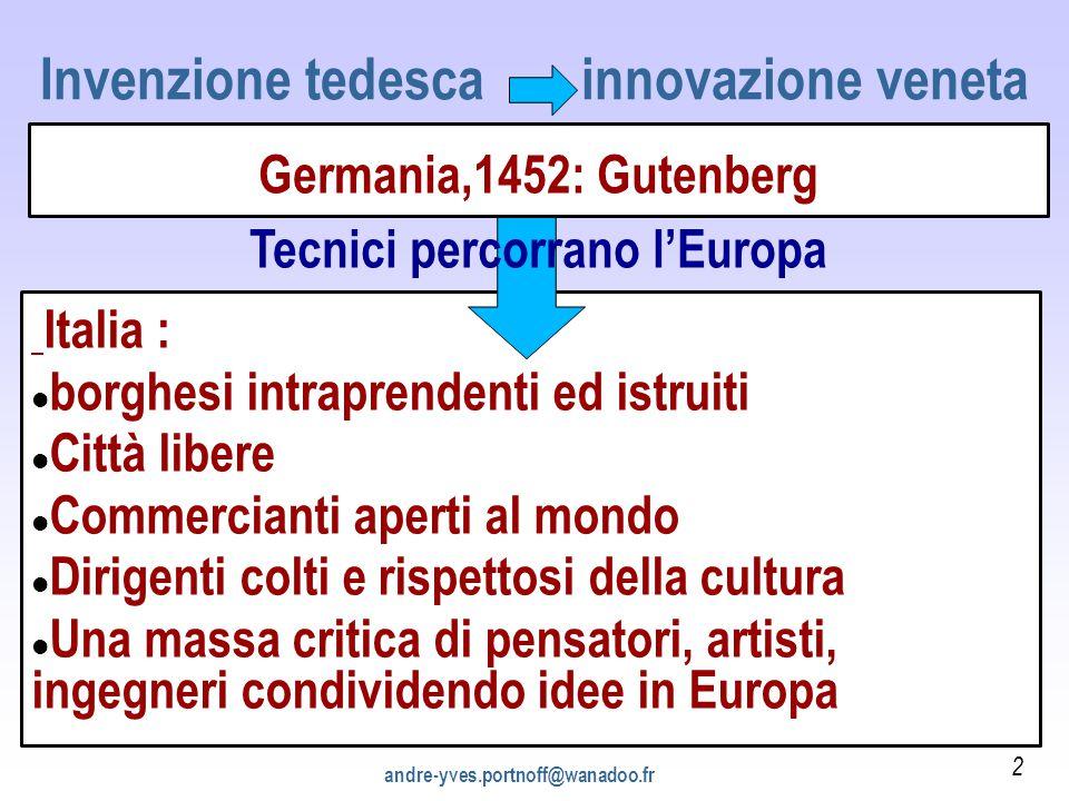 Italia : borghesi intraprendenti ed istruiti Città libere Commercianti aperti al mondo Dirigenti colti e rispettosi della cultura Una massa critica di