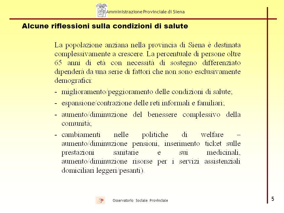 Amministrazione Provinciale di Siena 6 Osservatorio Sociale Provinciale Assistenti familiari extracomunitarie Colf regolarizzate 2001: 1880 di cui 767 extracomunitarie Dati ultima sanatoria 2002: su 3100 domande, 1700 colf