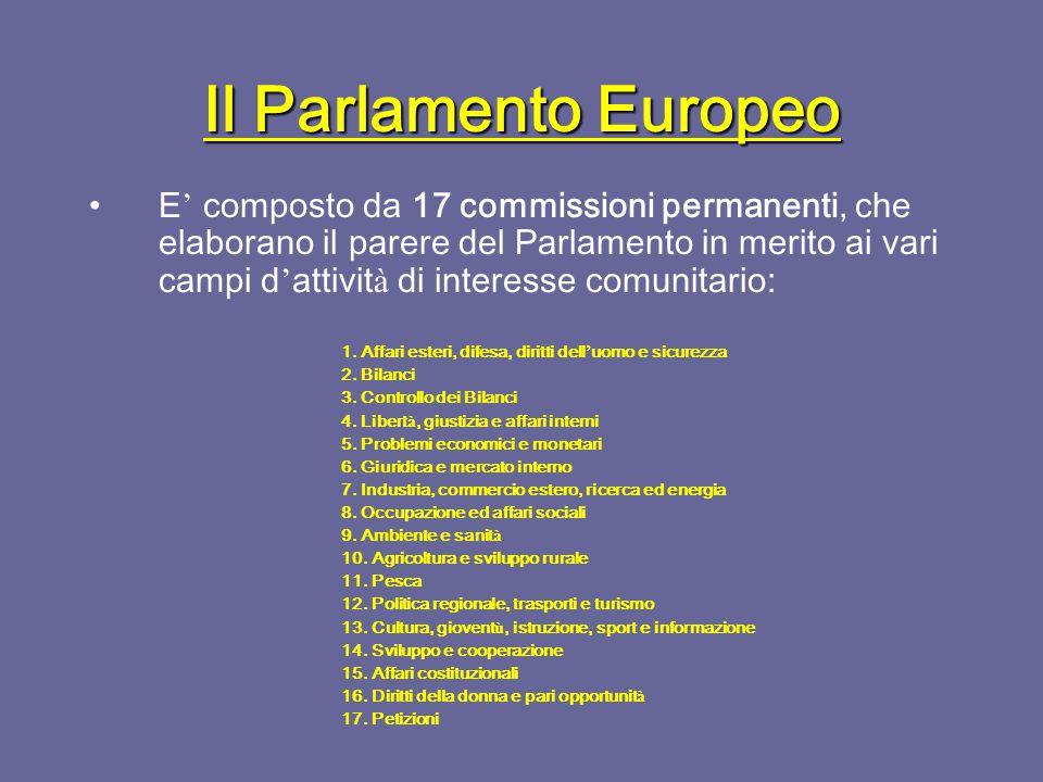 Il Parlamento Europeo La sua funzione consultiva consiste nel diritto di essere informato su tutti gli accordi internazionali o di cooperazione.