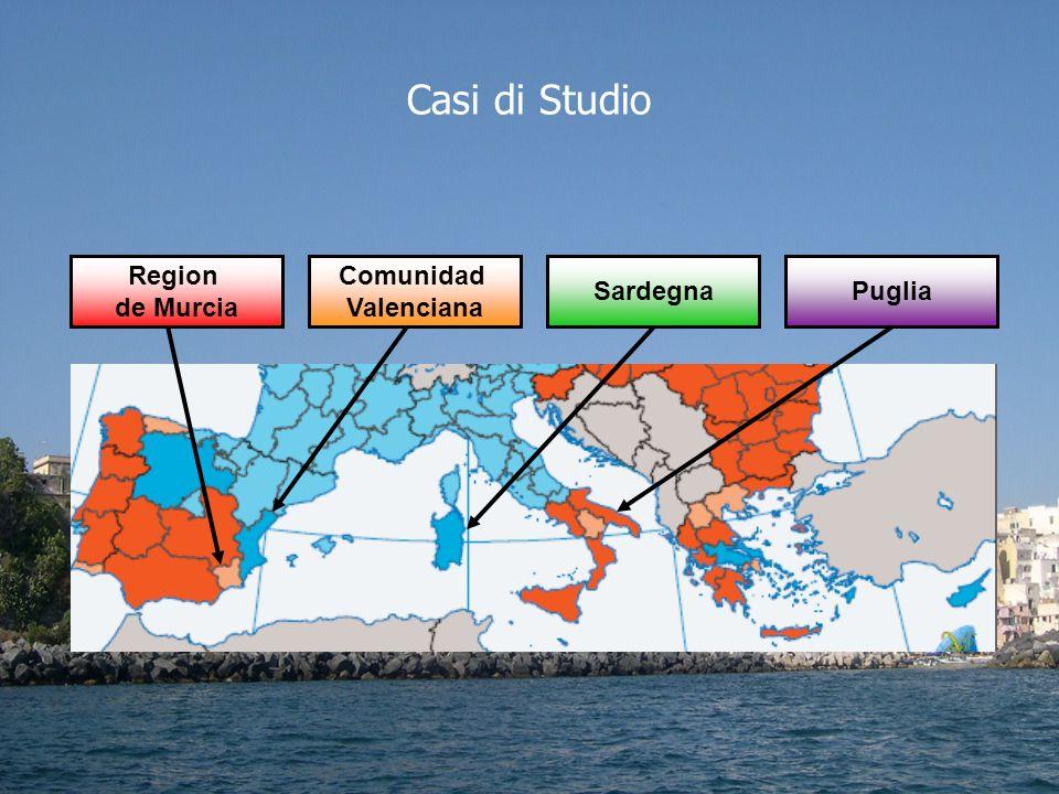 Puglia Comunidad Valenciana Sardegna Region de Murcia Casi di Studio