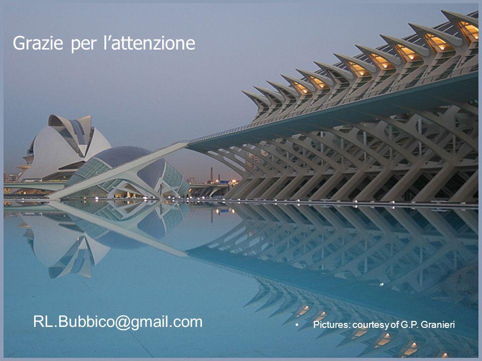 Grazie per l'attenzione RL.Bubbico@gmail.com Pictures: courtesy of G.P. Granieri