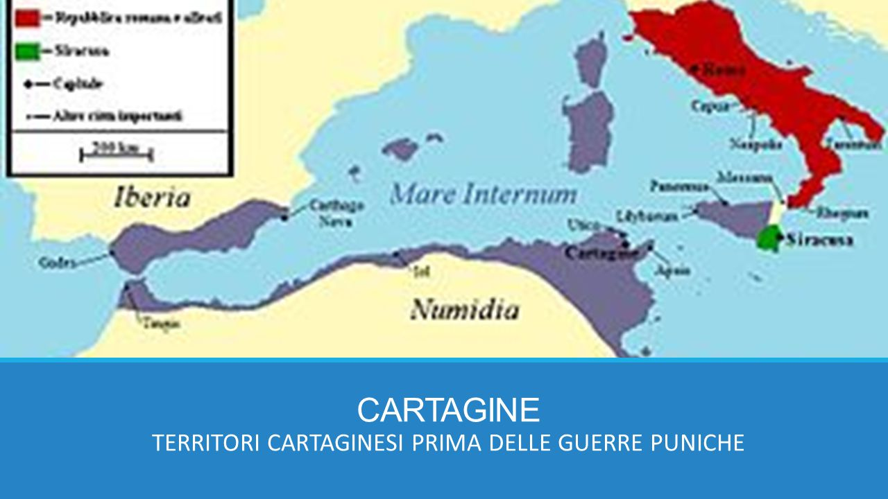 CARTAGINE TERRITORI CARTAGINESI PRIMA DELLE GUERRE PUNICHE