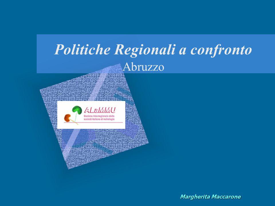 Margherita Maccarone Politiche Regionali a confronto Abruzzo
