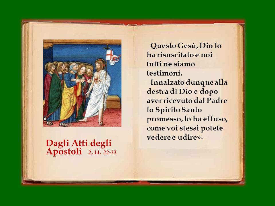 Fratelli, mi sia lecito dirvi francamente, riguardo al patriarca Davide, che egli morì e fu sepolto e il suo sepolcro è ancora oggi fra noi. Ma poiché