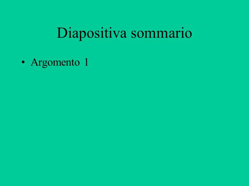 Argomento 1