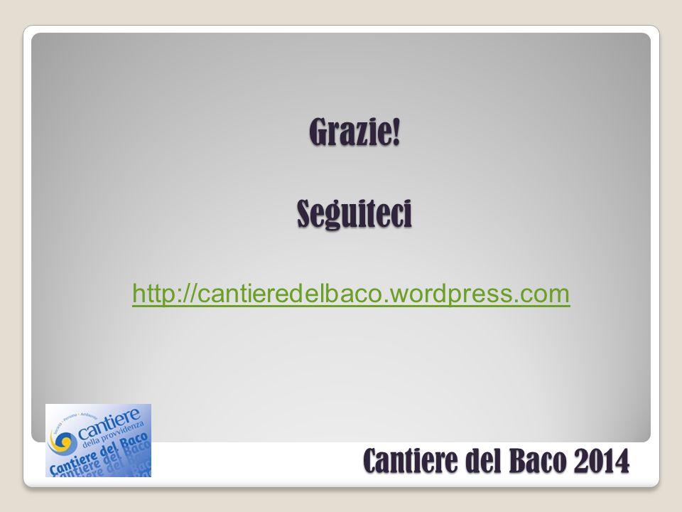 Cantiere del Baco 2014 Grazie!Seguiteci http://cantieredelbaco.wordpress.com