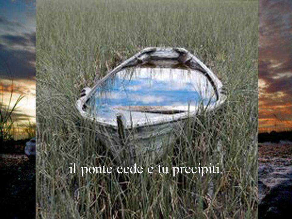 Il momento presente è un fragile ponte: se tu lo carichi dei rimpianti di ieri, dell'inquietudine di domani, il ponte cede e tu precipiti.