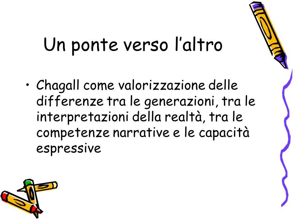 Un ponte verso l'altro Chagall come valorizzazione delle differenze tra le generazioni, tra le interpretazioni della realtà, tra le competenze narrative e le capacità espressive