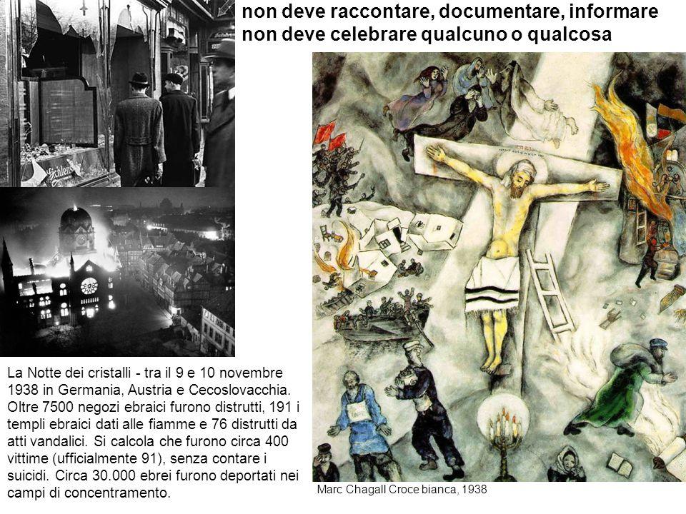non deve raccontare, documentare, informare non deve celebrare qualcuno o qualcosa La Notte dei cristalli - tra il 9 e 10 novembre 1938 in Germania, A