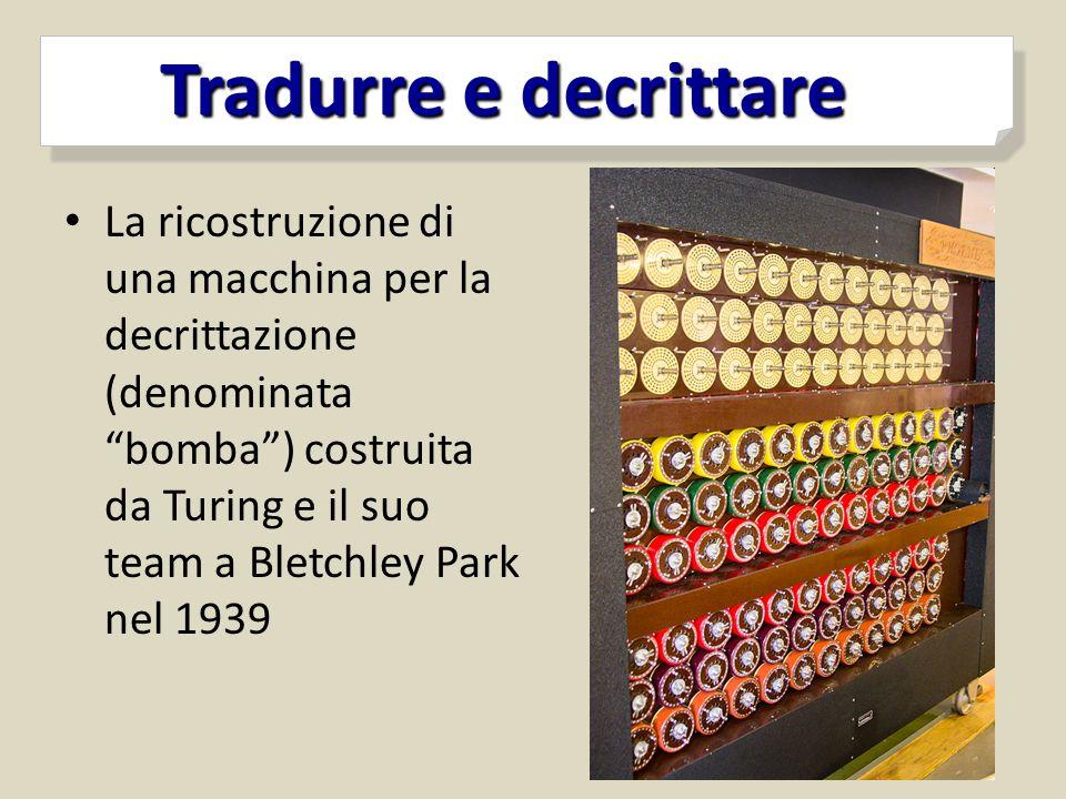 """La ricostruzione di una macchina per la decrittazione (denominata """"bomba"""") costruita da Turing e il suo team a Bletchley Park nel 1939 Tradurre e decr"""