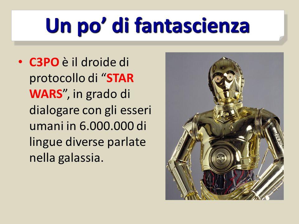 """C3PO è il droide di protocollo di """"STAR WARS"""", in grado di dialogare con gli esseri umani in 6.000.000 di lingue diverse parlate nella galassia."""