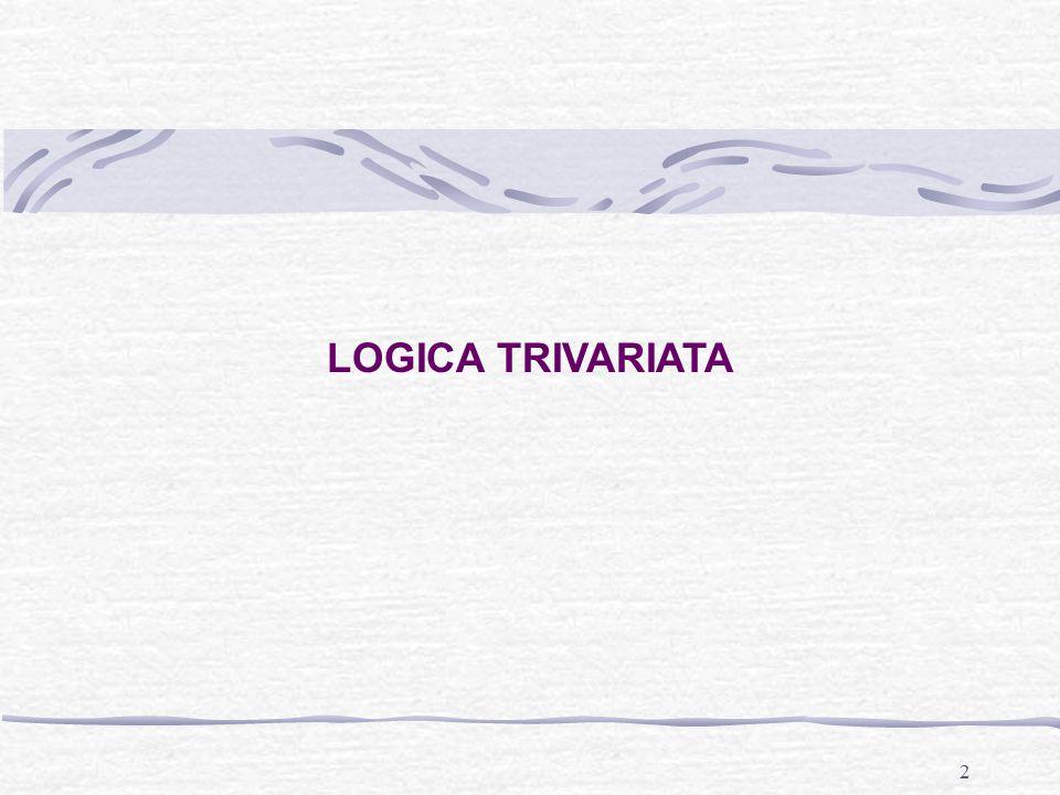 3 Logica trivariata Quando ad una relazione bivariata aggiungiamo una terza variabile operiamo un'analisi trivariata.