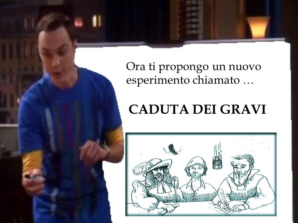 Ora ti propongo un nuovo esperimento chiamato … CADUTA DEI GRAVI