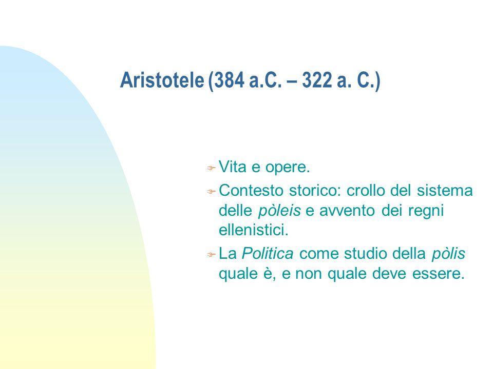 Aristotele n La gerarchia naturale delle intelligenze.