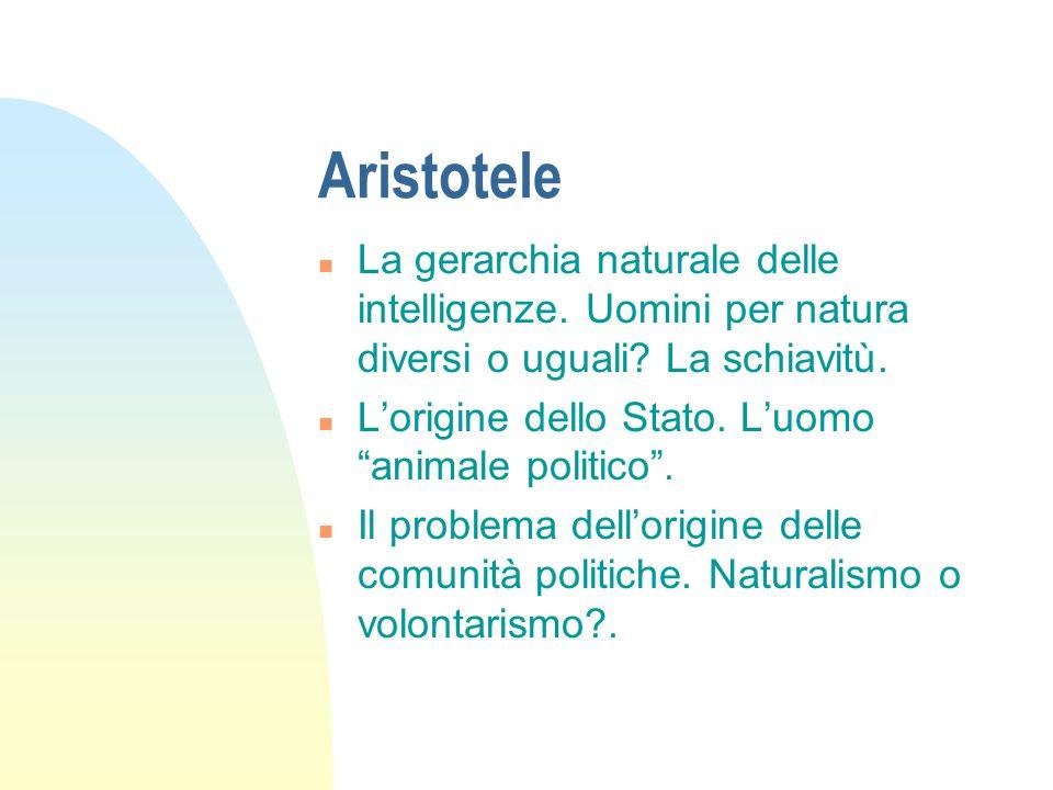 Aristotele F La famiglia: le tre forme di potere domestico.